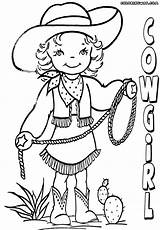 Cowgirl Coloring Pages Print Coloringway sketch template