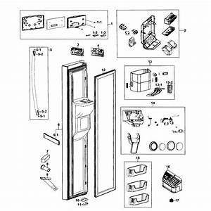 Left Door Diagram  U0026 Parts List For Model Rs267tdwpxaa0000