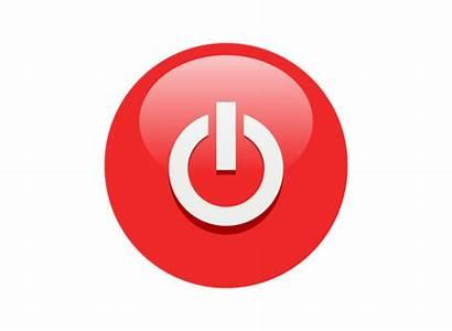 Power Button Icon Clip Multicolor Buttons Electricity