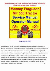 Massey Ferguson Mf 550 Tractor Service Manual By Haleyfolk