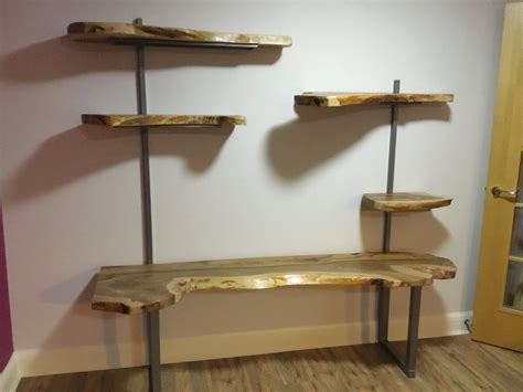 edge floating shelving unit unique wild wood furniture