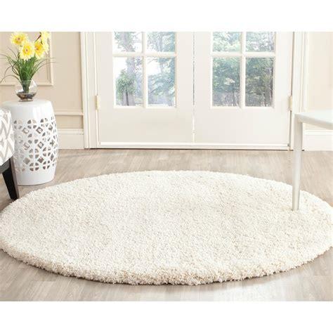 white circle rug safavieh milan shag ivory 10 ft x 10 ft area rug
