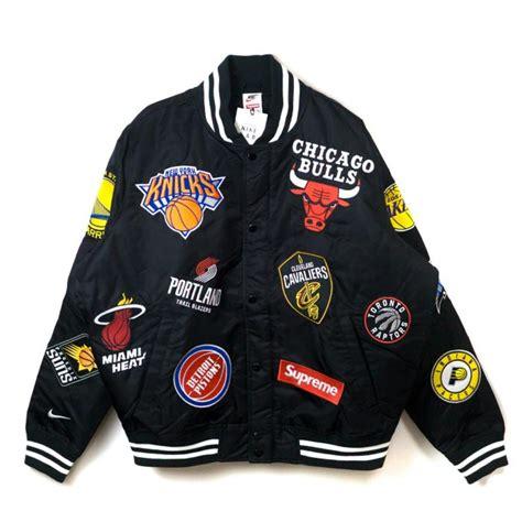 www supreme supreme x nba x nike warm up jacket by youbetterfly