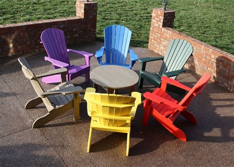 colorful plastic adirondack chairs for outdoor cedar