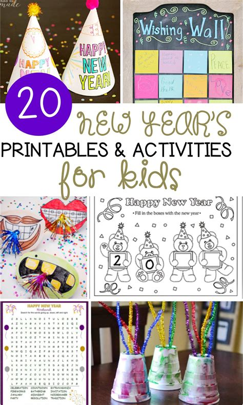 20 new year s activities for 731 | NYE printables activities base