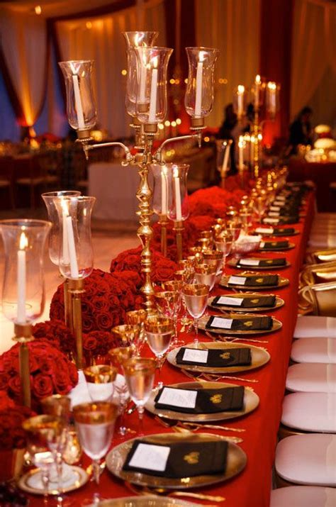 Indian Weddings Inspirations Red Tablescape Decor