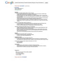 15 most creative resumes for 2015 for Google resume