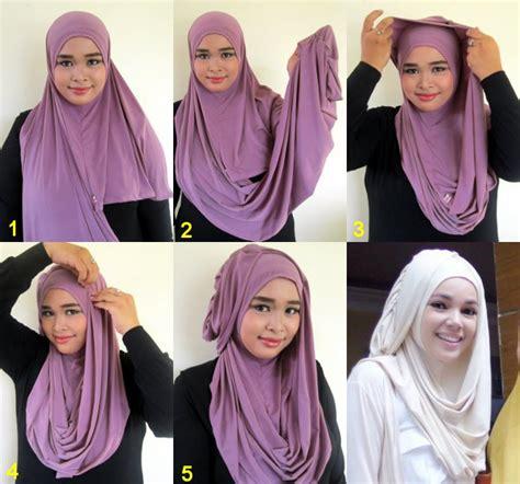 memakai jilbab hanna instan pashmina artikel tips