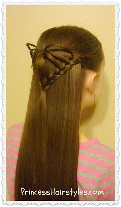 Half Heart 3d Hairstyle Hairstyles Valentine Hair