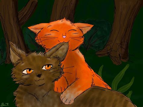 Brambleclaw And Squirrelflight By Ilovefood99 On Deviantart