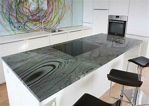 Granitplatten Küche Farben : arbeitsplatten aus naturstein zeitlos und vielf ltig ~ Michelbontemps.com Haus und Dekorationen