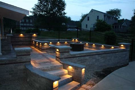 walkways seating walls pillars steps lighting whitmore s yard care inc