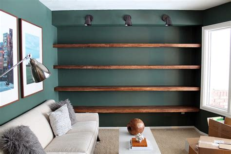 diy solid wood wall  wall shelves chris loves julia