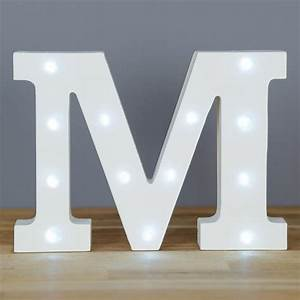 up in lights alphabet letter m at barnitts online store With letter m light