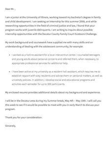 cover letter addressed  professor sample cover letter