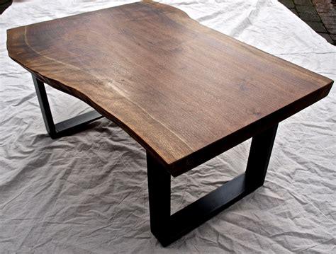 buy  hand crafted  edge walnut coffee table