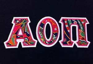 alpha omicron pi With aoii letter shirts