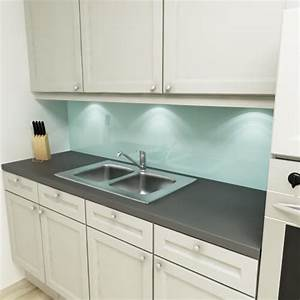 Kuchenruckwand uni pastellturkis for Küchenrückwand