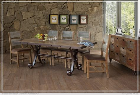 ifd rectangular dining sets  antique multicolor
