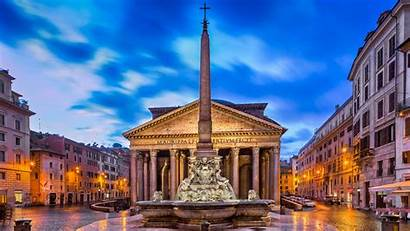 Pantheon Italy Rome Gods Temple Wallpapers 4k