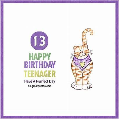 Birthday Happy Teenager Cards 13th Wishes 18th