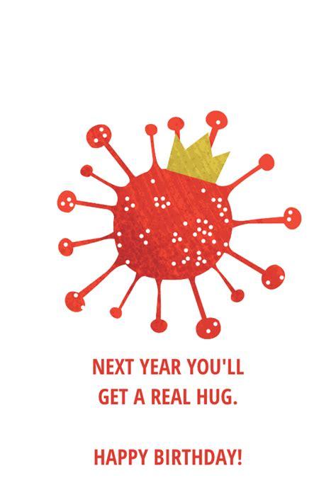 coronavirus hug birthday card   island