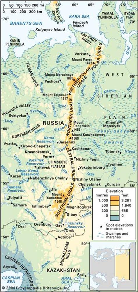 ural mountains mountains eurasia britannicacom