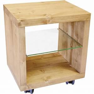étagère à Roulettes : etag re cube 1 case etag re verre sur roulettes ~ Teatrodelosmanantiales.com Idées de Décoration