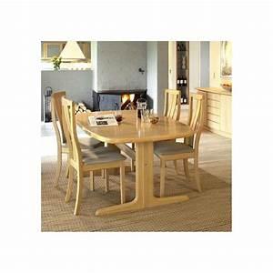 Table De Cuisine Ovale : table cuisine contemporaine bois ~ Teatrodelosmanantiales.com Idées de Décoration
