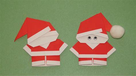 basteln zu weihnachten weihnachtsmann falten origami youtube