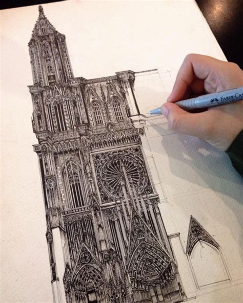 Drawing Pencil Amazing Architectural Drawing By Japanese