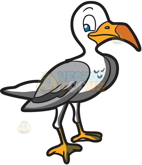 Seagull Clipart A Seagull Clipart By Vector