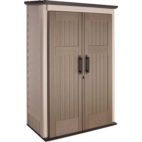 rubbermaid plastic large vertical outdoor storage shed 52 cubic 1887157 ebay