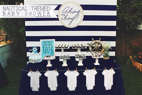 nautical themed baby shower timepartaycom