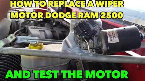 repair windshield wipe control 1995 dodge dakota parking system wiper motor removal quit working how to remove it dodge 2500 ram youtube