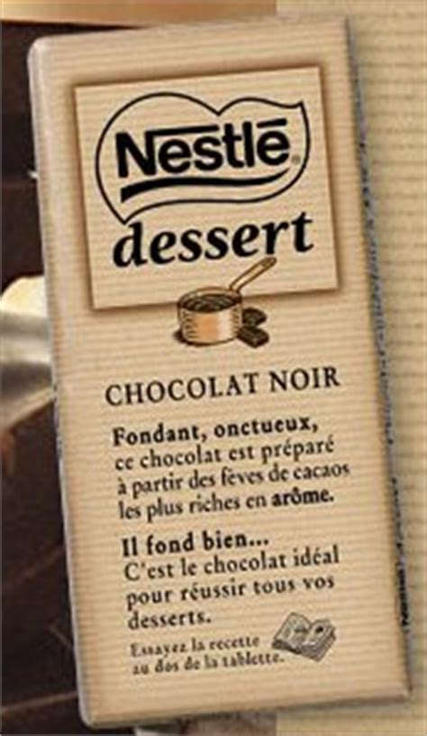 tablette de chocolat nestl 233 dessert nourriture sacr 233 e lafan8 photos club ados fr