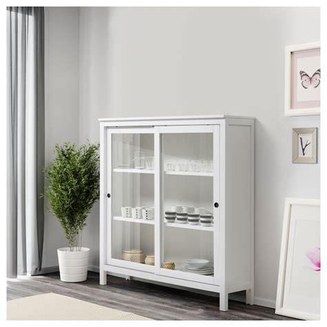 white glass cabinet doors hemnes glass door cabinet white stain 120x130 cm ikea