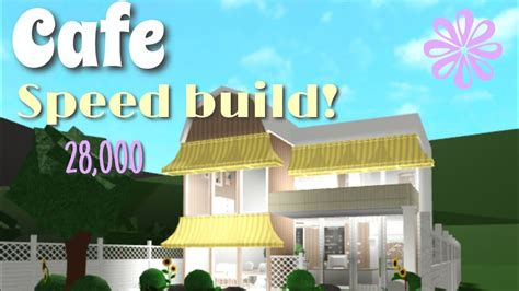 If you enjoyed the build, give the video a thumbs up! 28K CAFE SPEED BUILD - BLOXBURG - RinPlayZ - YouTube