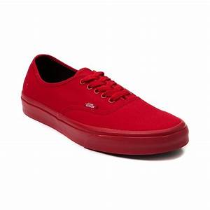 Vans Authentic Skate Shoe Red Mono