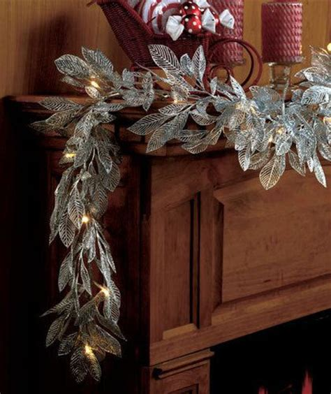 mantle garland with lights details about lighted led metallic silver quot or quot gold