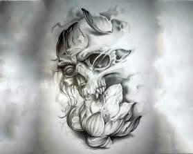 Broken Skull Tattoo Designs