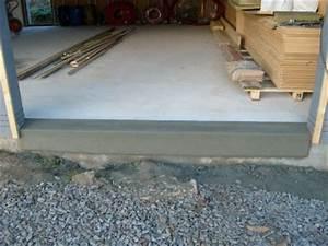 dimension garage seuil porte de garage With seuil de porte de garage en beton