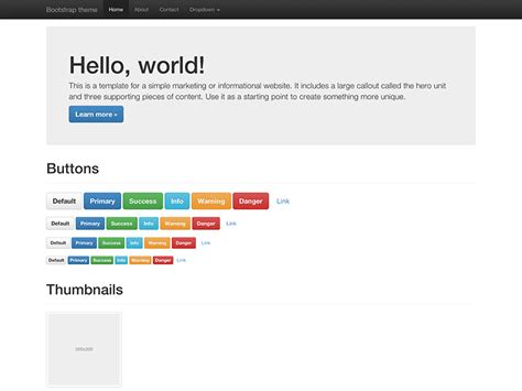 started bootstrap  documentation