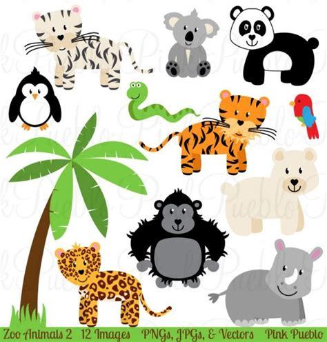 zoo jungle animals clipart vectors animal clip art