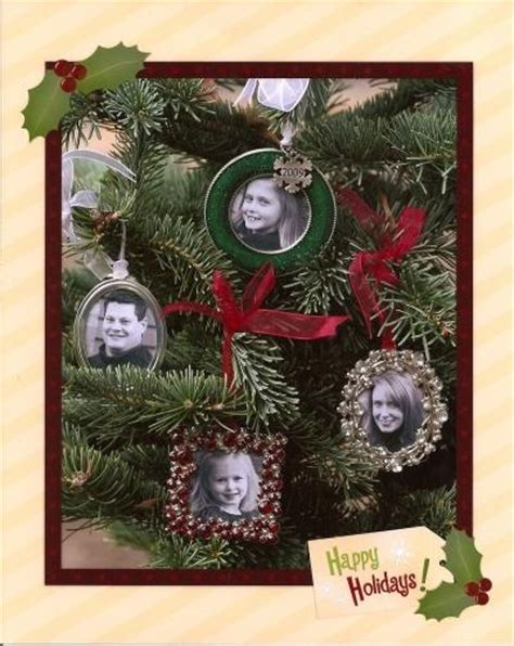 picture frame ornaments christmas card picture frame