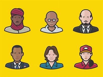 Diversity Icons Avatar Avatars Illustration Type Dribbble