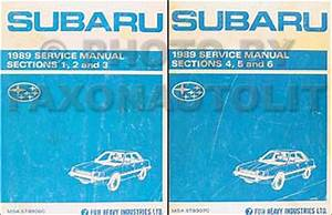 1989 Subaru Dl And Gl Repair Shop Service Manual Set Of 2 Original Books