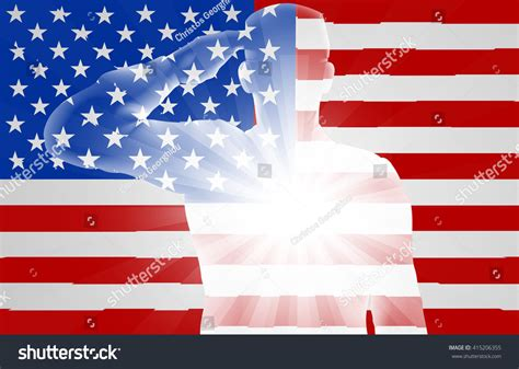 who designed the american flag soldier saluting front american flag design stock vector