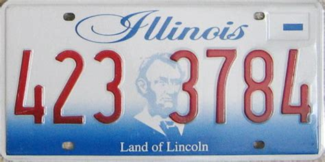 Vanity Plates In Illinois by Illinois Considers Switching To Single License Plate