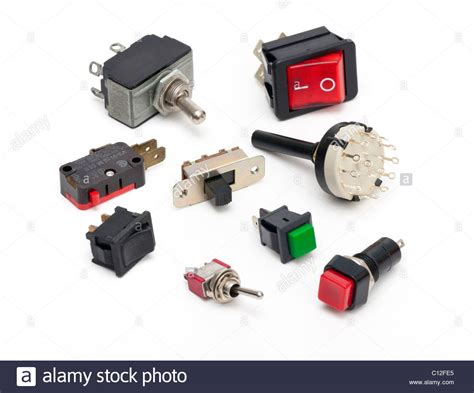 various electrical switches stock 35091453 alamy